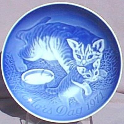BING & GRONDAHL 1971 Mother's Day Plate Cat with Kitten B&G -- Excellent!