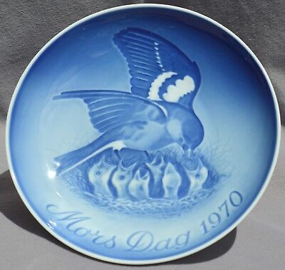 BING & GRONDAHL 1970 Mother's Day Plate Robin & Chicks B&G Mothers -- Excellent!