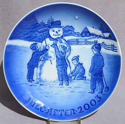BING & GRONDAHL 2003 B&G Christmas Plate : Frosty the Snowman - New in Box!
