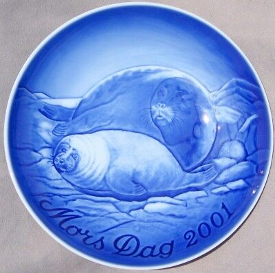 BING & GRONDAHL 2001 Mother's Day Plate B&G Mothers Day Seal and Pup NEW IN BOX