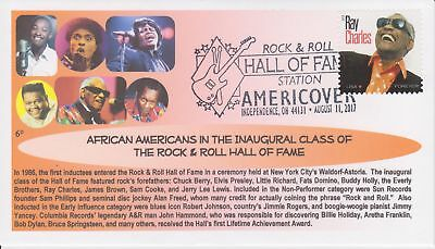 6° Cachets 4807 Rock 'N' Roll HOF inaugural male inductees AFDCS show cancel