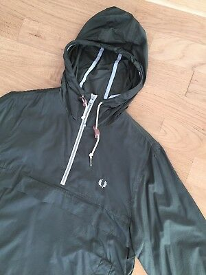 FRED PERRY x BRITISH MILLERAIN AWAY DAYS GREEN CAGOULE S mod casuals classic