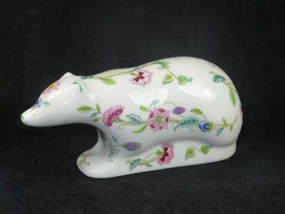 BONE CHINA MINTON Haddon Hall Animal Figurine POLAR BEAR John Wadsworth B.1491