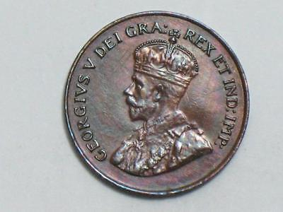 1923 Canada One Cent - George V - Toned Coin