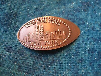 WORLD TRADE CENTER NEW YORK COPPER Elongated Penny Pressed Smashed 21