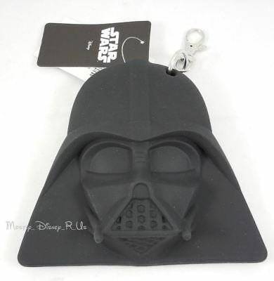 New Star Wars Darth Vader Coin Purse Bag Zippered Wallet With Keyring Clip