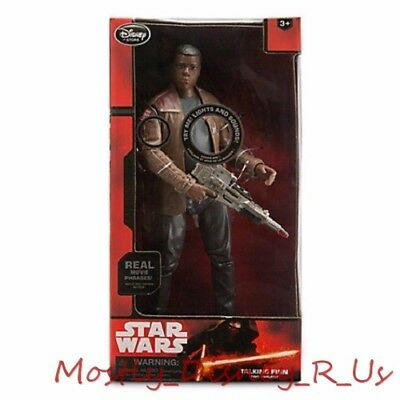 "New Disney Store Star Wars Force Awakens Talking Finn Action Figure 13 1/2"" Doll"