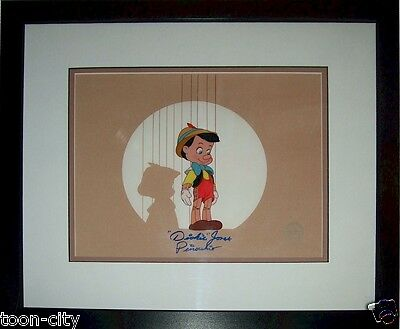 Pinocchio Disney Sericel cel Hand Signed Original Voice 1939 Dickie Jones