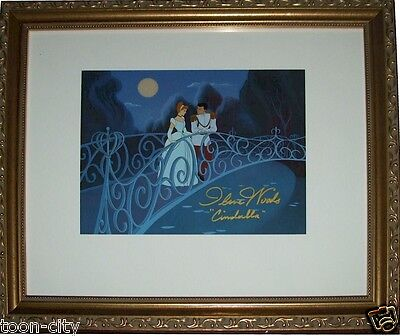 "GOLD FRAME hand signed ""REAL"" Cinderella 1950 Disney Voice Ilene Woods"