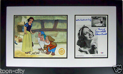 Snow White Disney Sericel cel Davis Voice Adriana Caselotti SIGNED NEW Framed