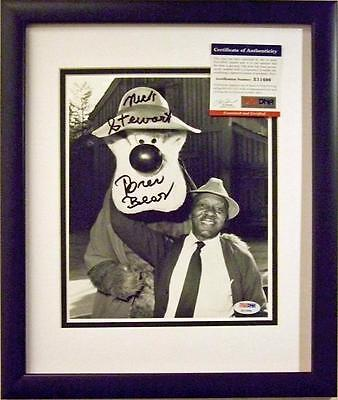 signed Nick Stewart Song of the South original voice Brer Bear NEW Frame PSA DNA