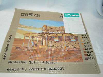 "Coats Anchor "" Birdsville Hotel "" Tapestry Canvas , Color Chart & Instructions"