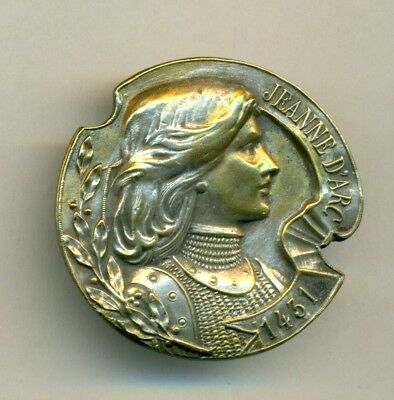 Large Antique JOAN OF ARC Button
