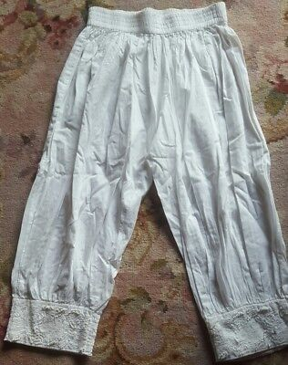 FRED BARE girls white harem pants size 10 *GORGEOUS