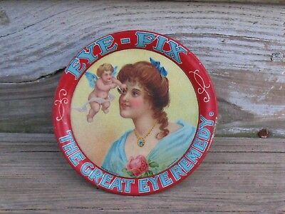 Eye Fix The Great Eye Remedy Circa 1900 Advertising Tip/Change Tray Ex Graphics