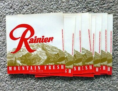 Set of 9 Rainier Mountain Fresh 6 inch Vinyl Signs