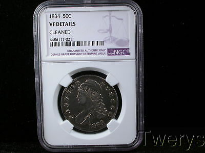 1834 Capped Bust Half Dollar Ngc Vf Details