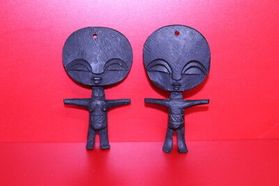 "Pair Fertility Dolls African Art  NICE 4""  #8"