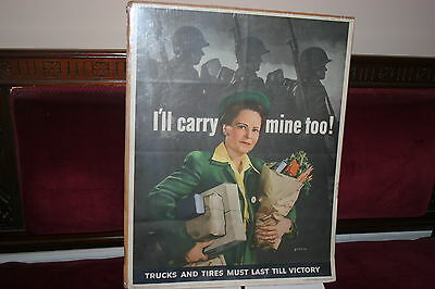 I'll Carry Mine Too!  World War 2 Home Front Poster 1943