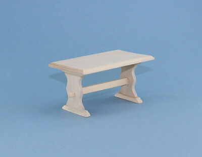 NICE 1:12 Scale Dollhouse Miniature Natural Wood Table #WCK74