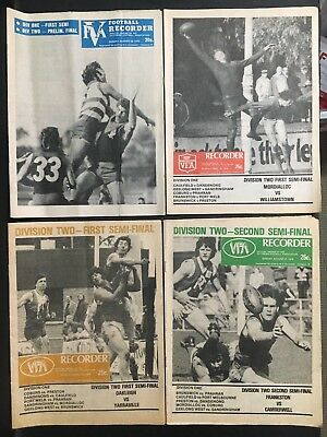 "V.f.a Football Record ""recorder"" Lot Of 4 Finals"