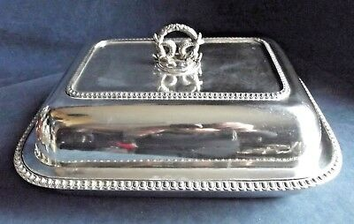 "SUPERB Very Large 14"" ~ Sheffield SILVER Plate ~ Ornate SERVING DISH ~ c1800"