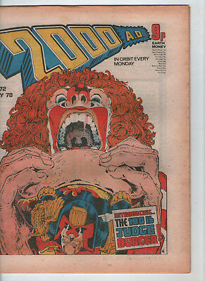 2000AD PROG. # 72 - BANNED ISSUE { BURGER WARS PART 2 } ( 8th JULY 1978 )