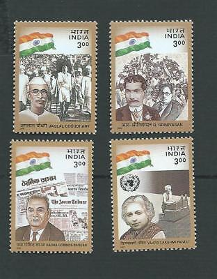 India 2000.  Social & Political Leaders Set Of 4 Stamps. Mnh. Sg. 1942-1945
