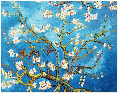 Blossoming Almond - 40x50cm Signed Hand Painted Van Gogh Oil Painting Wall Art