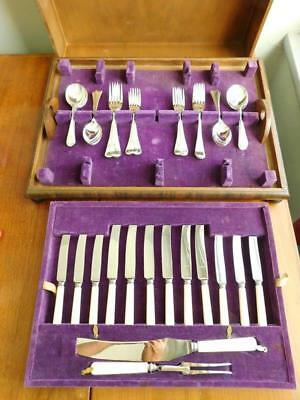 Art Deco OXFORD CUTLERY Sheffield Full Setting for 6 Knives Forks Spoons Canteen