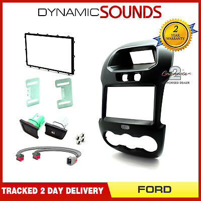 CT23FD37C Car Stereo Double Din Fascia Panel Plate Kit for Ford Ranger 2012-2016