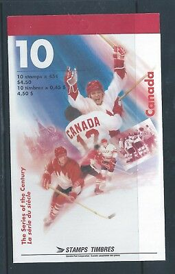 Canada Booklet 1997 Hockey Series of the Century #BK201b MNH ** Free Shipping **