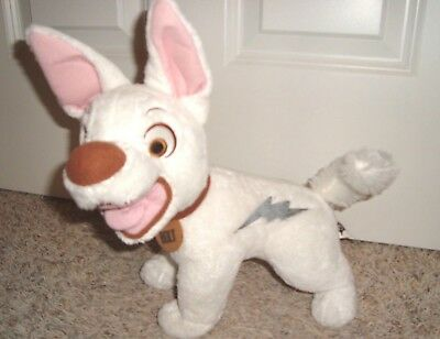 "Vhtf Disney Bolt Plush Talking Phrases Sounds 12"" Works Great Super Dog"