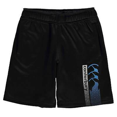 Canterbury Kids Boys CCC Logo Shorts Junior Fleece Pants Trousers Bottoms