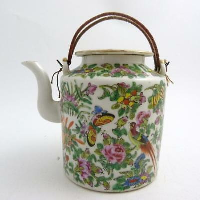 19Th Century Chinese Canton Famille Rose Porcelain Teapot