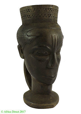 Kuba Cup Palm Wine Janus Heads African Art