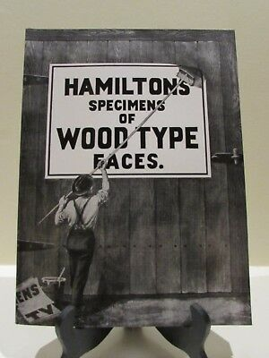 1907 Hamilton Specimens Of Wood Type Faces 2010 Reproduction Letterpress Book