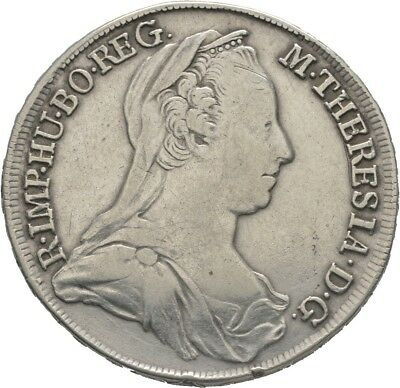 LANZ RDR Österreich Maria Theresia 1/2 Taler 1775 IC FA Wien Doppeladler €HED124