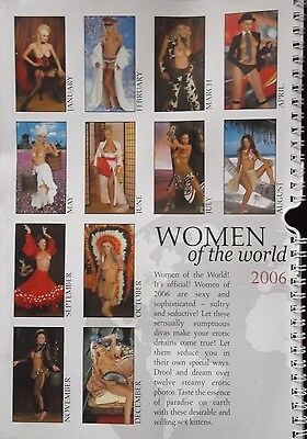 12F -CALENDRIER 2006...WOMEN Of The World (Femme Nue)...Grand Format...57x28 Cm