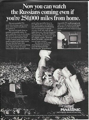 1969 Panasonic Portable TV Television Astronauts In Space Ad