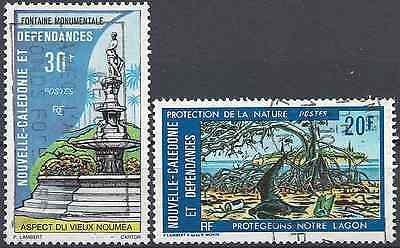 New Caledonia N°403/404 - Obliteration Stamp Has Date