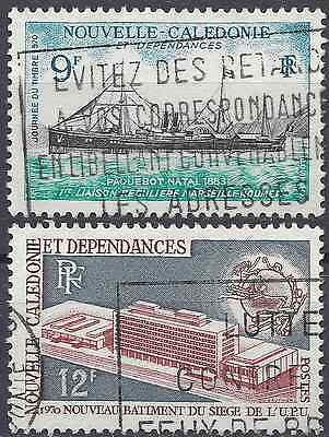 New Caledonia N°366/367 - Obliteration Stamp Has Date