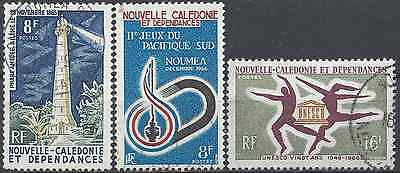 New Caledonia N°327/328/329 - Obliteration Stamp Has Date