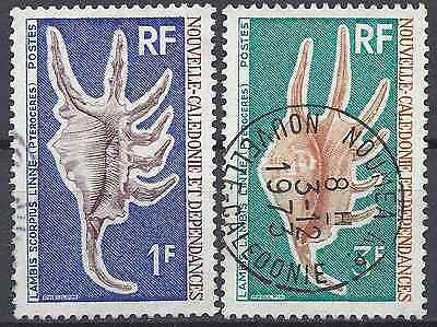 New Caledonia N°379/380 - Obliteration Stamp Has Date