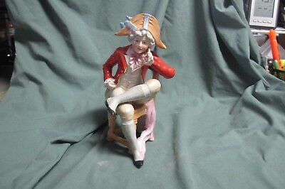 Antique early ROYAL DUX, Bohemia  Figurine Colonial Man sitting in Chair