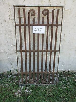 Antique Victorian Iron Gate Window Garden Fence Architectural Salvage Door #637