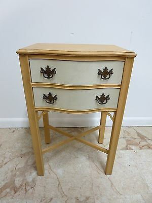 Antique Chippendale High Leg Lamp End Table Shelf Night Stand B