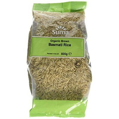 Suma Organic Brown Basmati Rice 500 g (Pack of 6)
