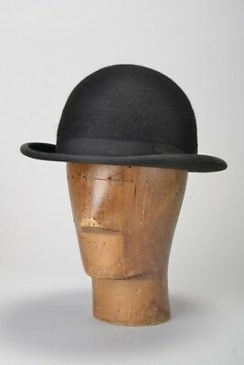 Unusual Shaped Patey (London) s7 Hard Crown Bowler Style Riding Hat. Ref ERP