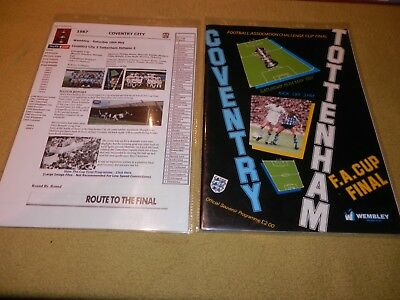 Presentation File of Coventry City v Tottenham in 1987 FA Cup Final at Wembley